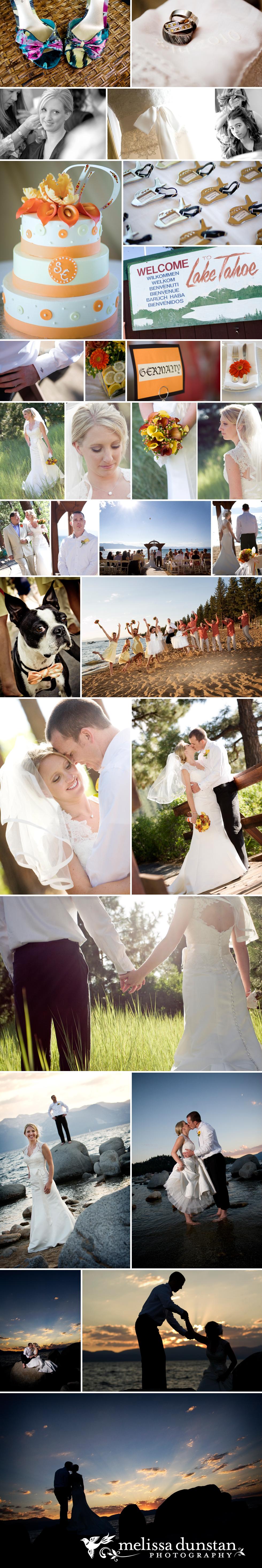 Tangerine Tango Wedding Lake Tahoe