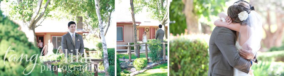 first look, sedona wedding photography, sky ranch lodge, summer