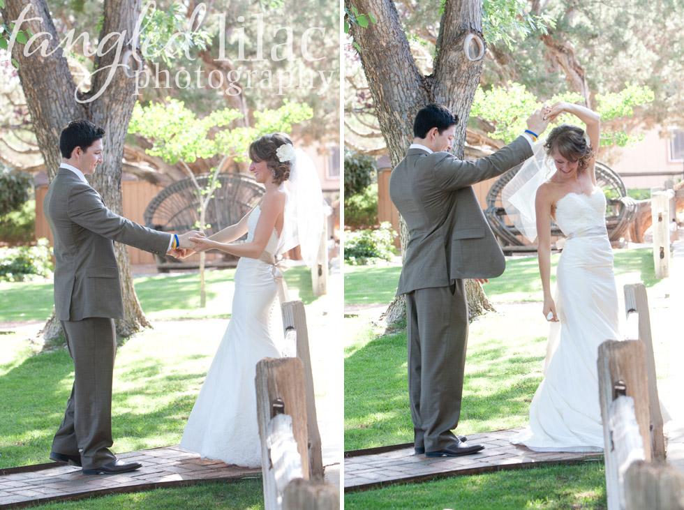 first look, sedona wedding photographer, dancing, sky ranch lodge