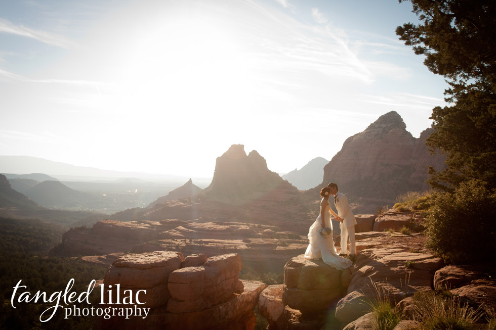 red rock wedding