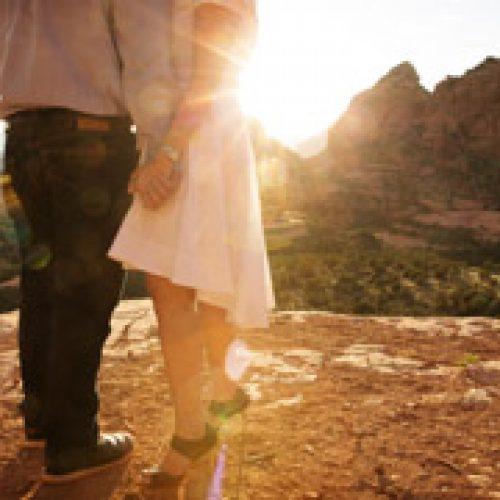 Deanne & James Merry-Go-Round Rock Engagement { Sedona Wedding Photography}