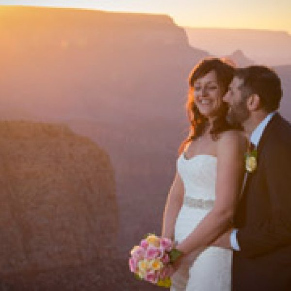 Meredith & Miles Intimate Moran Point Wedding {Grand Canyon Wedding Photography}