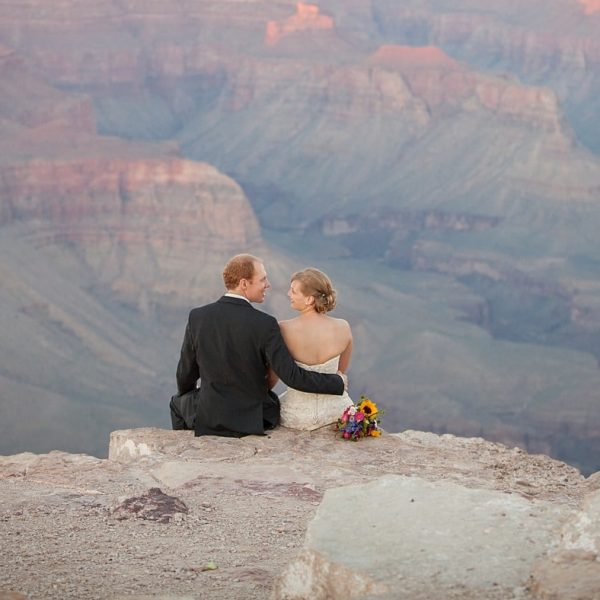 Anneliese and Malte's Shoshone Point Wedding {Grand Canyon Wedding Photography}