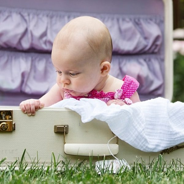 Kensie turns 4 Months!  {Flagstaff Family Photography}