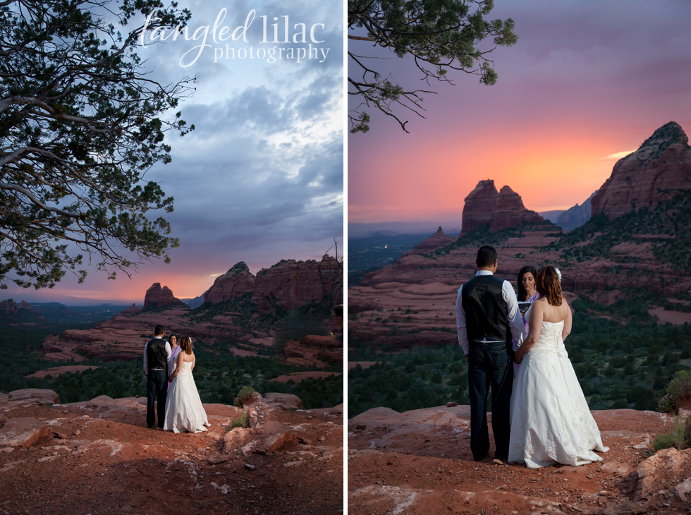 Sedona Sunset at Marry Go Round rock which is at the top of Schnebly Hill Road
