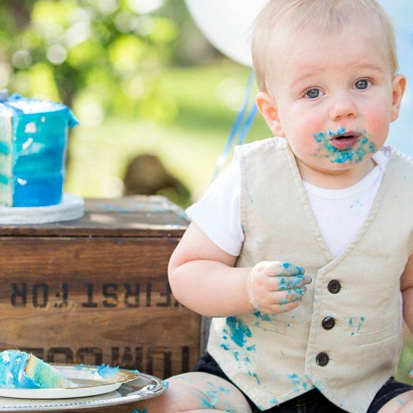 Sam's Cake Smash {Flagstaff Family Photographer}