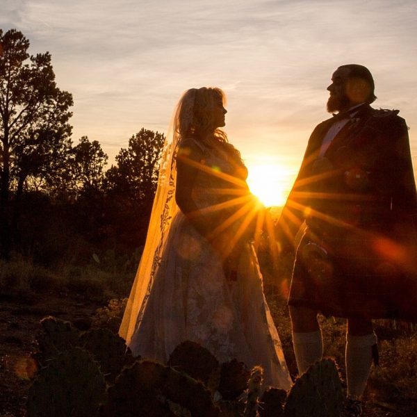 A Scottish Wedding in the Red Rocks {Sedona Photographer}
