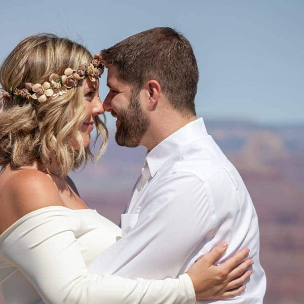 A sweet ceremony at Lipan Point, Grand Canyon National Park