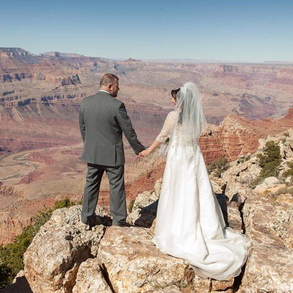Lipan Point Elopement at Grand Canyon National Park