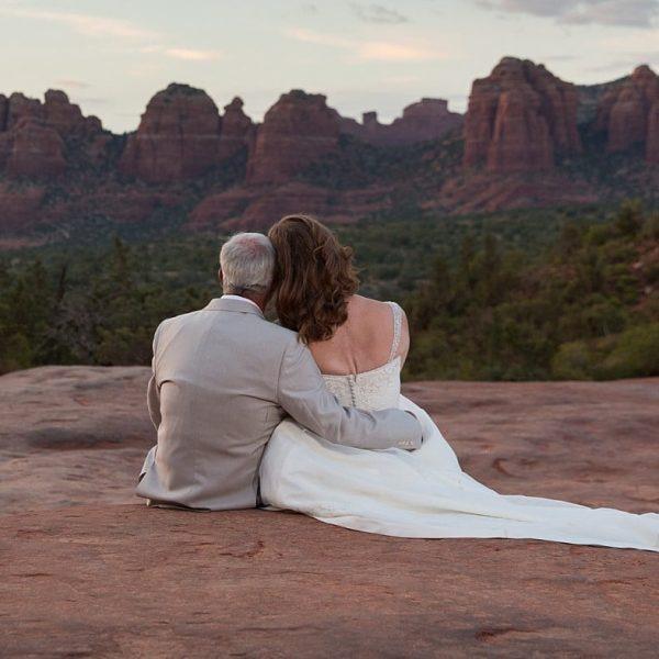 Pink Jeep Elopement in Sedona with Dana and Walter