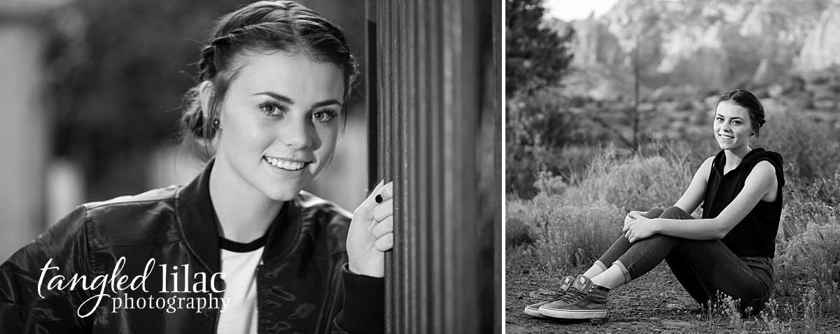 High School Senior photographed in Los Angeles at the Malibu State Park sitting in patches of grass with cactus and trees