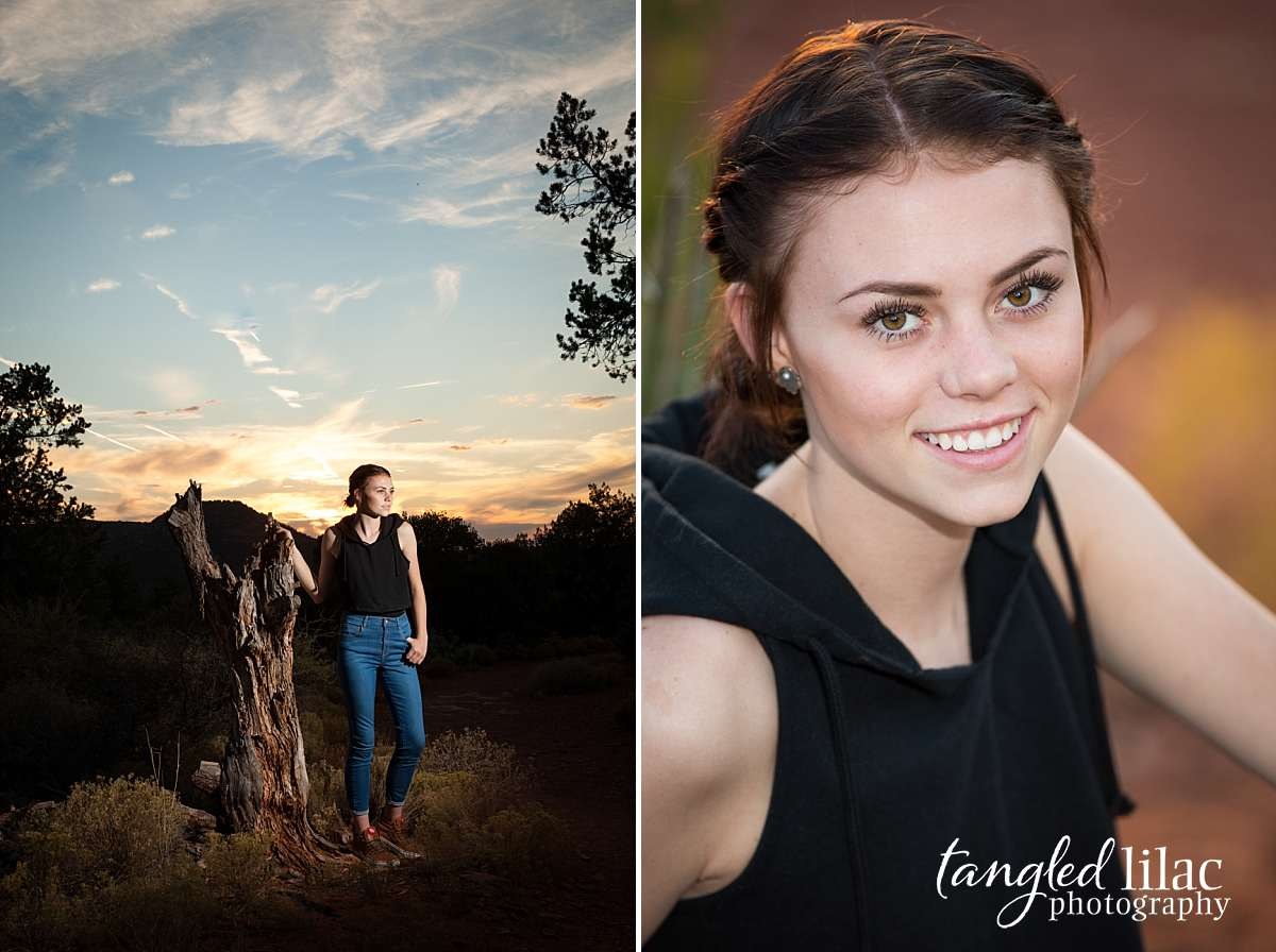 High School Senior at sunset using dramatic lighting and wearing jeans sneakers and a black top image by Melissa Dunstan Photographer in Los Angeles