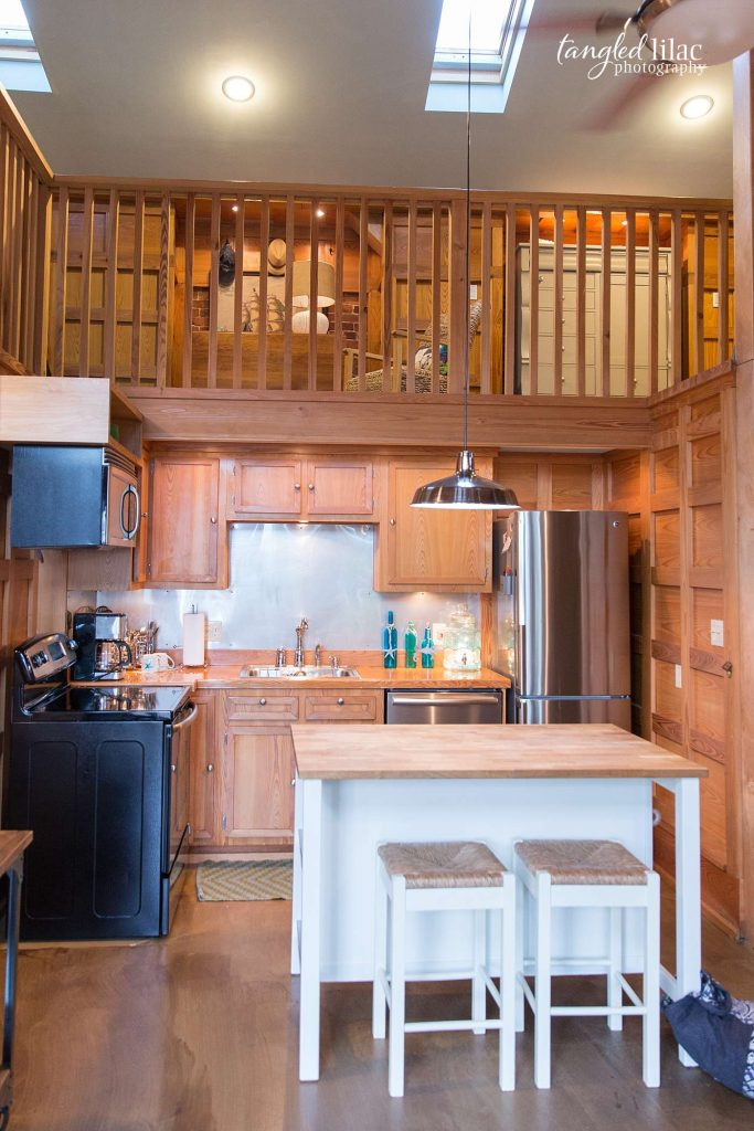 cottage kitchen with wooden countertops by real estate photographer melissa dunstan