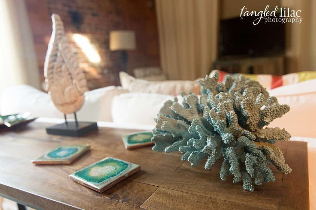 Apalachicola Cottage with coral by Melissa Dunstan Real Estate Photographer